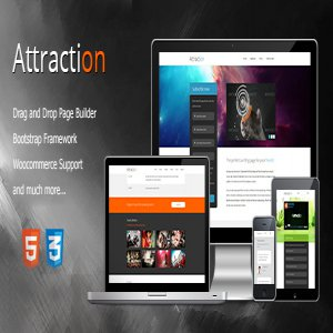 قالب وردپرس Attraction Responsive Wordpress Landing Page نسخه 2.1.0